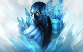 Обои game, Mortal Kombat, Sub-Zero, Саб-зиро, h1fey