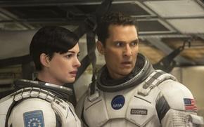 Картинка фантастика, Anne Hathaway, Matthew McConaughey, Interstellar, «Интерстеллар»