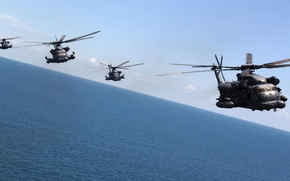 Картинка тяжёлый военно-транспортный вертолёт, Sikorsky Aero Engineering Corporation, Pave Low, MH-53