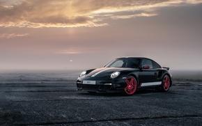 Картинка 911, Porsche, Black, Turbo