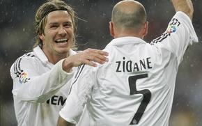 Картинка Спорт, Футбол, David Beckham, Дэвид Бекхэм, Football, Реал Мадрид, Real Madrid, Sport, Zinedine Zidane, Зизу, …