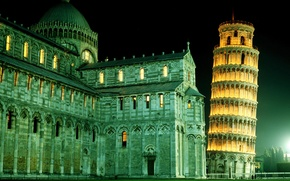 Обои башня, Италия, Пиза
