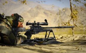 Картинка оружие, засада, солдат, снайпер, винтовка