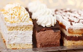 Картинка торт, крем, десерт, пирожные, орешки, сладкое, глазурь, бисквит