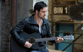 Картинка гитара, Three Days Grace, Adam Gontier