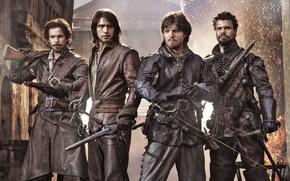 Картинка Сериал, Мушкетеры, The Musketeers, Tom Burke, Luke Pasqualino, Howard Charles, Santiago Cabrera