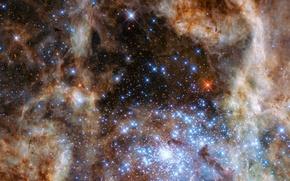 Картинка космос, звезды, space, голубой гигант