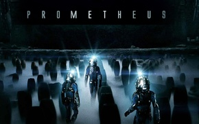 Картинка люди, фантастика, фильм, скафандр, 2012, Прометей, Ridley Scott, Prometheus