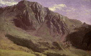 Картинка пейзаж, картина, Горы, Альберт Бирштадт