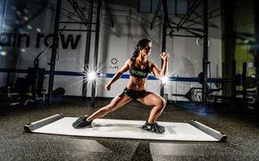 Обои fitness, pose, workout, model