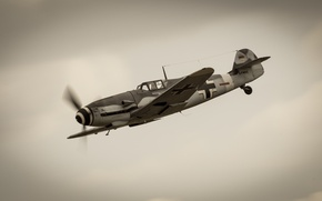 Картинка истребитель, Ме-109, немецкий, поршневой, одномоторный, Мессершмитт Bf.109