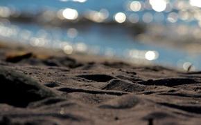 Картинка песок, блики, размытость