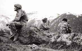 Обои старик, солдат, афганистан, американец