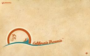 Картинка оранжевый, зеленый, остров, California