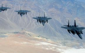 Картинка истребители, Eagle, полёт, F-15, «Игл»