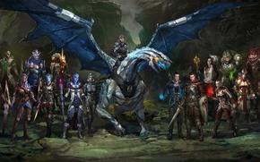 "Картинка Mass Effect, Shepard, Jack, Jeff ""Joker"" Moreau, Liara T'Soni, Subject Zero"