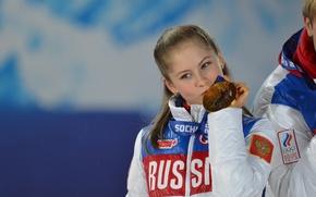 Картинка фигурное катание, олимпиада, медаль, Россия, Сочи, 2014, Юлия Липницкая