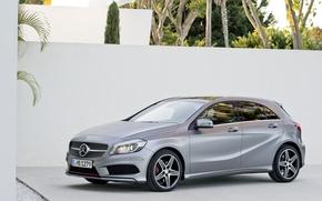 Mercedes, A class, AMG пакет, Мерседес, серый обои