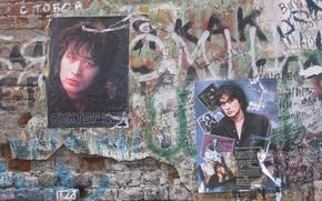Картинка музыкант, Стена памяти, Цой