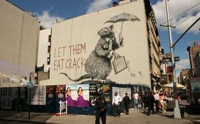 Картинка Banksy, Graffiti, Rat