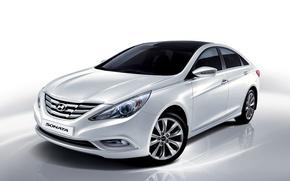 Картинка i45, Sonata, 2009, соната, белая, Hyundai, хундай