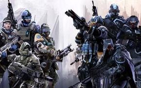 Картинка оружие, солдаты, экипировка, multiplayer, мультиплеер, Sony Computer Entertainment, Guerrilla Games, Killzone: Shadow Fall, Killzone: В …
