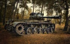 Картинка оружие, фон, Lost Tank