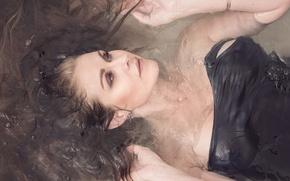 Картинка вода, девушка, волосы