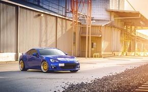 Картинка Subaru, синяя, blue, субару, brz