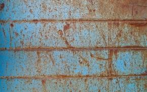 Картинка metal, blue, pattern, rusty