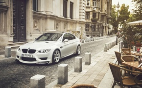 Картинка BMW, City, Car, Front, White, E92, Tuning, Sport