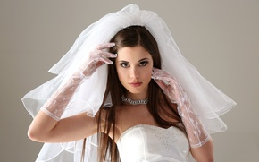 Картинка платье, перчатки, невеста, фата, Little Caprice, Литл Каприс