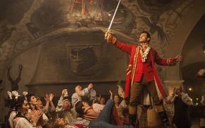 Картинка cinema, sword, blood, fantasy, Disney, weapon, dog, man, fight, movie, ken, china, painting, blade, coat, …