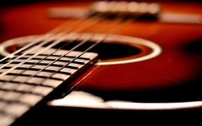 Картинка макро, музыка, гитара