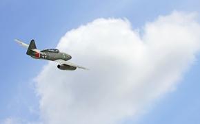 Картинка истребитель, войны, полёт, бомбардировщик, реактивный, мировой, Второй, времён, Me.262, самолёт-разведчик, Мессерщмитт