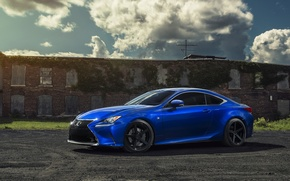 Картинка car, blue, rc 350, lexus rc350