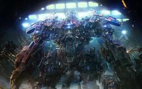 Картинка фантастика, робот, арт, автобот, fire bot