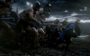 Картинка 300 спартанцев, битва, воины, 300, исторический, Расцвет империи, Rise of an Empire