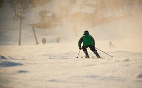 Картинка свет, снег, лыжник