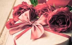 Картинка подарок, романтика, розы, love, rose, heart, romantic, Valentine's Day