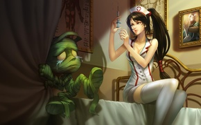 Картинка Akali, Shen, Amumu, League of Legends