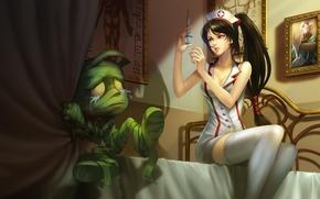 Картинка Akali, Shen, Amumu, League of Legends