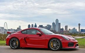Картинка Porsche, red, cayman, GT4