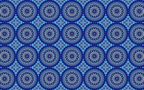 Картинка круги, синий, узор, орнамент