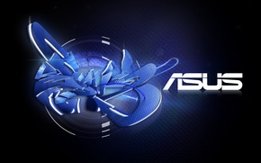 Обои ASUS, Blue, Graffiti