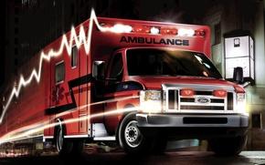 Картинка Ford, super, duty, ambulance, e-450