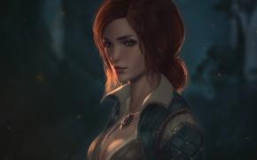 Картинка девушка, рыжая, art, witcher, triss merigold, The Witcher 3: Wild Hunt