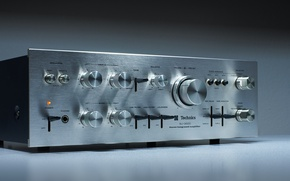 Обои макро, фон, Technics SU 3500 Stereo Amplifier, 1975