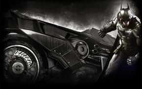 Картинка Плащ, Броня, Брюс Уэйн, Темный Рыцарь, Бэтмобиль, Bruce Wayne, Экипировка, Warner Bros. Interactive Entertainment, Rocksteady …