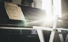 Картинка свет, ноты, пианино